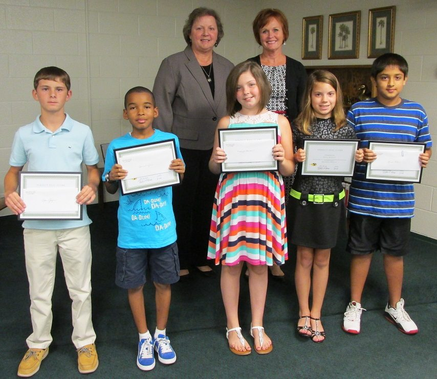 Five Students Recognized At Latta Board Meeting For