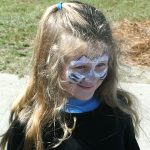 Ella Barfield with her face painted