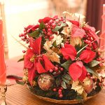 Poinsettia tablepiece