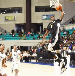 #5 Ty'Quan Porter slams one in for two.