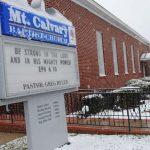 Snow at Mount Calvary Baptist Church- Photo by Johnnie Daniels