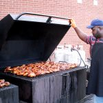 Derrick Graves at the grill.