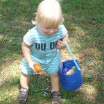 Sebastian Mishoe at the Easter Egg Hunt