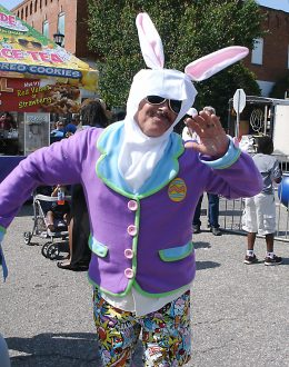 Dan E. Lockemy as the Easter Bunny