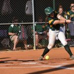 #7 Madison Owens dribbles one to pitcher. Safe at first.