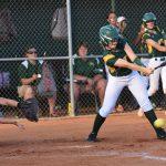 #4 Kaleigh Caulder hits one to pitcher.