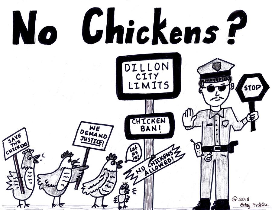 Editorial Cartoon: No Chickens? – The Dillon Herald